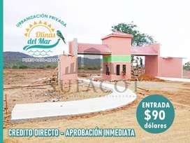 Urbanizacion Olinas del Mar, Terrenos Playeros desde 170m2, Valor m2 55 Usd, Credito Directo 90 Usd de Entrada, SD1