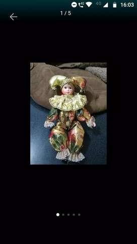 Muñeca de arlequín porcelana original