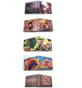 Billeteras de Dragon Ball, Dota, One Piece y Tokyo Ghoul (Anime) (NUEVOS)