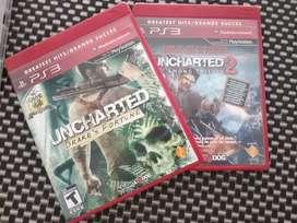 Uncharted 1 y 2 fisico