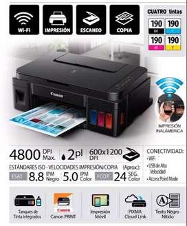 impresora inalámbrica multifuncional PIXMA G3100