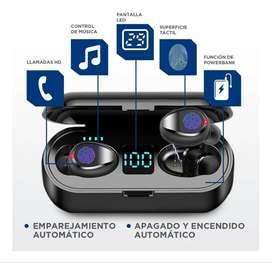 Audífonos Inalámbricos Bluetooth 5.0 Con Cargador Y Control Táctil