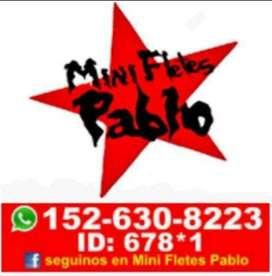Mini Fletes Pablo. Capital Y Provincia