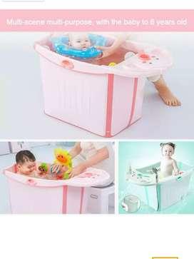 Bañera plegable de bebé tina de baño modelo jacuzzi niños 0m a 6 años