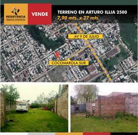 SE VENDE TERRENO EN ARTURO ILLIA 2500