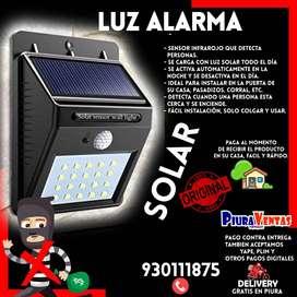 Luz Alarma Solar, Encendido Automático PVV, luces, lampara, foco
