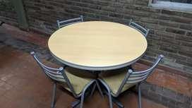 Mesa Redonda con 4 sillas Juego de comedor cocina