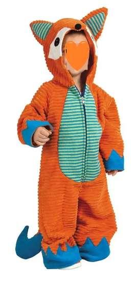 Hermoso disfraz para niño talla 2 de zorrito (animalito) sólo un uso.