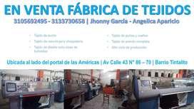 ¡En venta fábrica de tejidos en Bogotá!