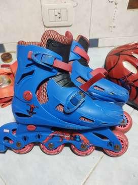 Rollers de spiderman 1 mes de uso