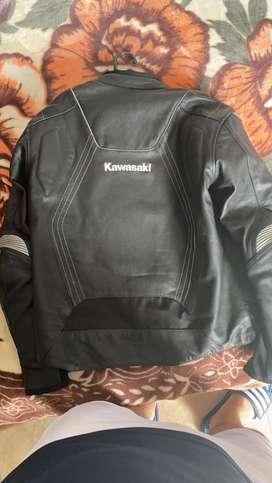 Chaqueta Kawasaki original en cuero