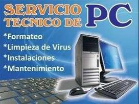 servicio técnico remoto y presencial de computadores
