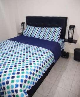 Base cama negra