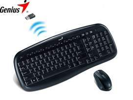 TECLADO GENIUS  MOUSE SLIMSTAR KB-8000X WIRELESS BLACK itelsistem