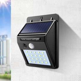 Lampara Luz Solar 16 Leds Sensor Movimiento Recargable