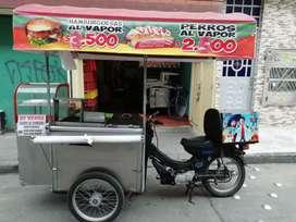 Carro de comidas rapidas con motor