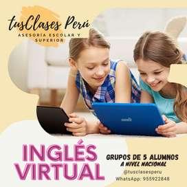 CLASES Y ASESRIAS PARA NIÑOS EN INGLES A NIVEL NACIONAL
