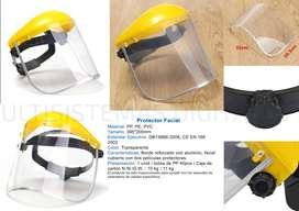 Protector Facial Semi Casco De Policarbonato Filo Aluminio
