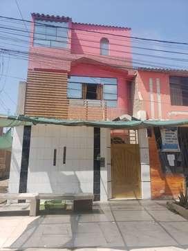 Vendo una casa de 3 pusos en la urbanuzacion carlos esteins chavez  distrito de jose L ortiz