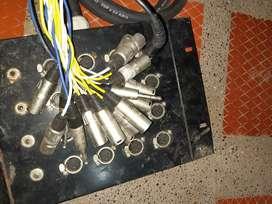 Vendo medusa de audio para escenario 16 canales canon