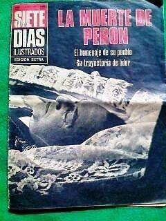 Revista 7 dias: la muerte de peron