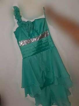 Vestido de Fiesta verde menta