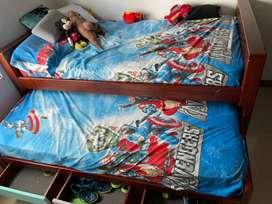 Vendo nicho con 2 camas sencillas y colchones ortopédicos