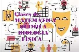 CLASES PARTICULARES Y TRABAJOS DE MATEMÁTICA, QUÍMICA, BIOLOGÍA, FÍSICA
