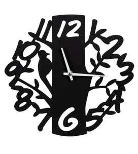 Reloj Diseño Ave en Árbol Metálico