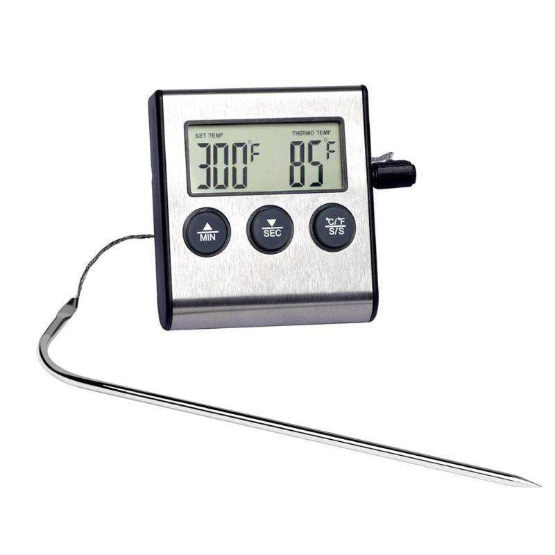 Termometro Digital Horno Carnes Comidas Barbacoa Bbq Sonda 0