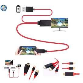 Cable Adaptador MHL Audio Video Micro,TipoC,iOS USB a HDMI Cable.