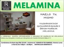 CURSO DE MELAMINA - 100% GARANTIZADO - INICIAMOS ESTE VIERNES 07 DE FEBRERO
