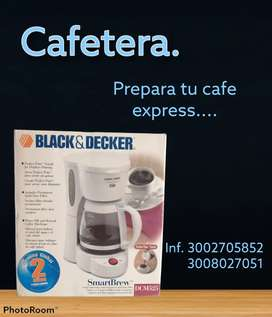 Cafetera black and whit