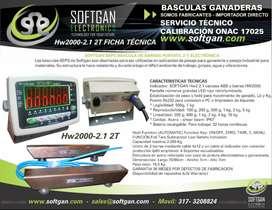 BASCULAS GANADERAS HW2000 2,1 2T