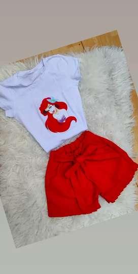 Conjunto short y blusa para niñas