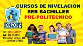 CURSOS DE NIVELACION SER BACHILLER .. PRE ESPOL
