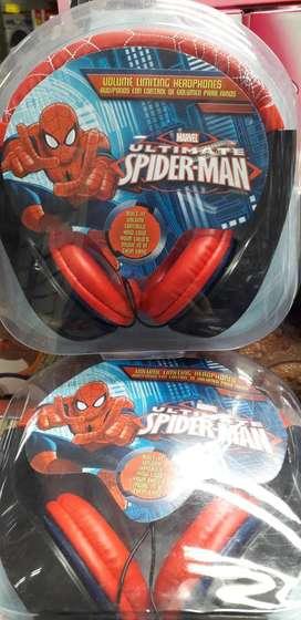 Audífonos Spiderman Auriculares Spider-man Control Volumen