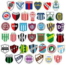 40 Escudos Vectorizados De Fútbol Argentinos