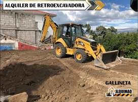 ALQUILER DE: GALLINETAS, RETROEXCAVADORAS, EXCAVADORAS, MINIEXCAVADORAS, MINICARGADORAS, VOLQUETAS, RODILLO COMPACTADOR.