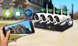 Nuevo sistema de videocámaras inalámbricas para locales comerciales, oficinas edificios y hogares. Monitoree desde cell.