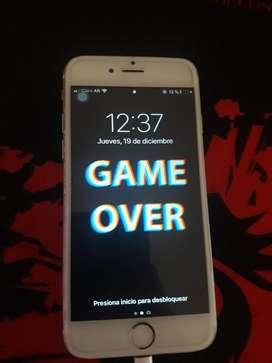 iPhone 6 128gb BATERIA 100% SOLO CLARO ( sin huella )