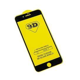 Vidrio Templado Glass Reforzado 9D Iphone 7 Black