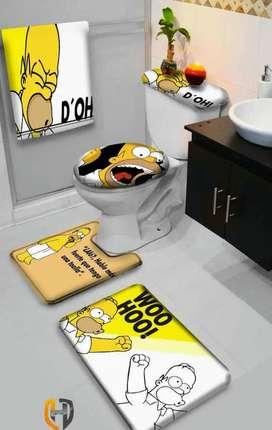 Tapetes lencería para baño