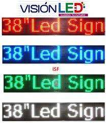 Letrero Led Luminoso Programables 1mt X 20cm - Publicidad