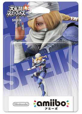 Sheik Smash Bros Amiibo Version Japonesa Nuevo Importado Sellado
