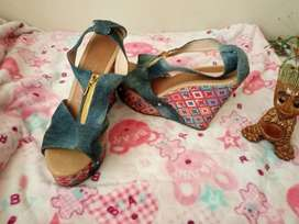 lindas sandalias plataforma un uso (nuevas)