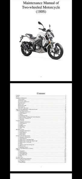 Manual de mantenimiento benelli 180 S