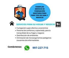 Servicio de fumigación sanitaria para su hogar y negocio