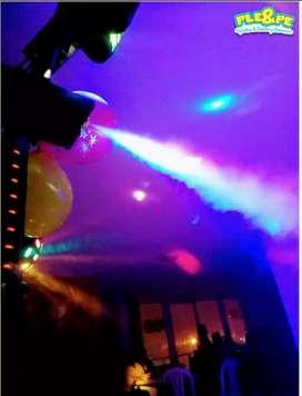 Alquiler de luces sonido y animación/cabina/luz/bombillo de espejos/viojotecas/chikitecas /50años