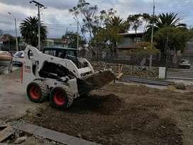 "Alquiler de maquinaria (minicargadora ""bobcat"" , retroexcavadora, volqueta), arena, graba, ripio, piedra, tierra negra"